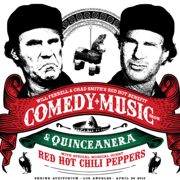 "Will Ferrell y Chad Smith de Red Hot Chili Peppers unidos en el  ""Hot Benefit Comedy + Music Show & Quinceanera"""